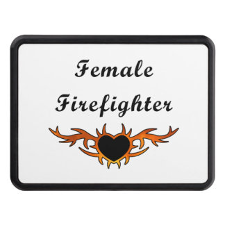 Female Firefighter Tattoo Tow Hitch Cover
