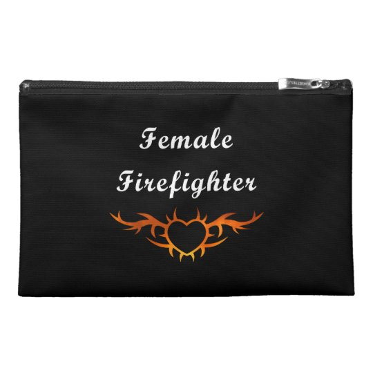 Female Firefighter Tattoo Travel Accessory Bag
