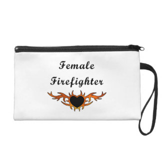 Female Firefighter Tattoo Wristlet Purse