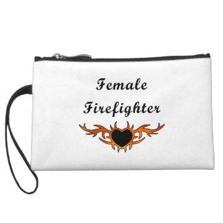Female Firefighter Tattoo Wristlet Wallet