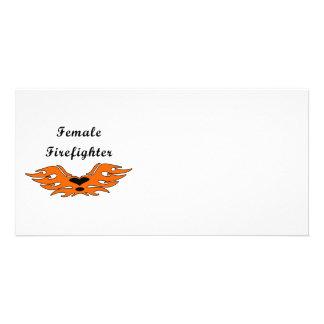 Female Firefighter Tattoos Card