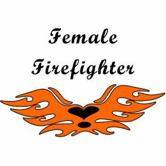Female Firefighter Tattoos Statuette