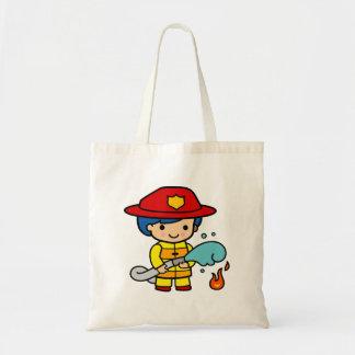 Female Firefighter Tote Bag