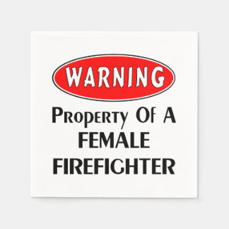Female Firefighters Napkin