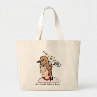 Female Fisher's Brain Large Tote Bag