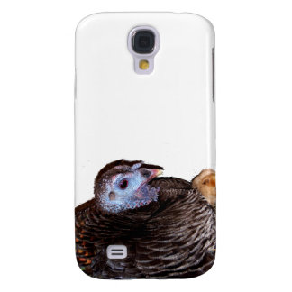 Female Florida Wild Turkey with baby chick Samsung Galaxy S4 Covers