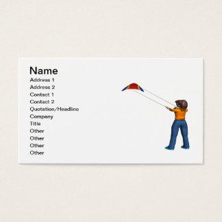 Female Flying Kite Business Card