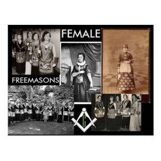 Female Freemasons | Mixed Media by Kimball Cottam. Postcard