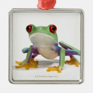 Female frog 2 metal ornament