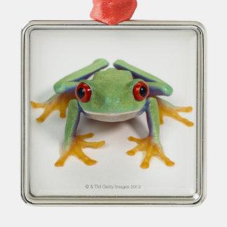 Female frog metal ornament