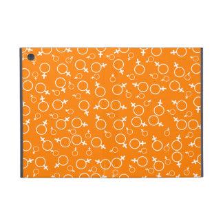 Female Gender Sign (Venus Symbol)- White on Orange Cases For iPad Mini