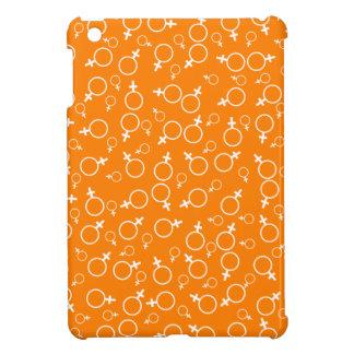 Female Gender Sign (Venus Symbol)- White on Orange iPad Mini Cases