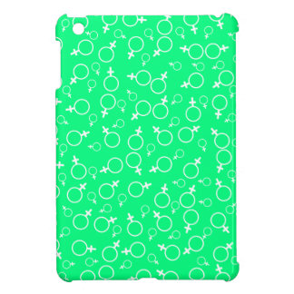 Female Gender Sign (Venus)- White on Spring Green iPad Mini Case