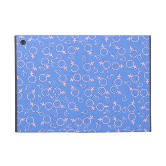 Female Gender Symbol- Pink on Cornflower Blue iPad Mini Covers