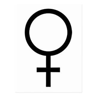 Female Gender Symbol Postcard