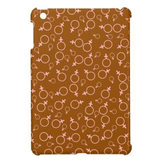 Female Gender (Venus) Symbol- Pink on Brown iPad Mini Cover