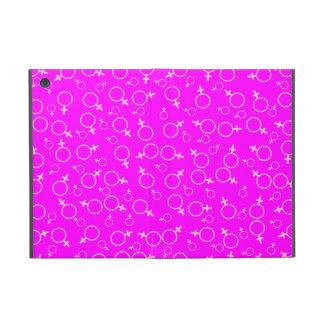 Female Gender (Venus) Symbol- Pink on Fuchsia iPad Mini Cases