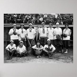 Female Giants Baseball, 1913 Poster