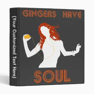 Female Gingers have Soul 3 Ring Binder