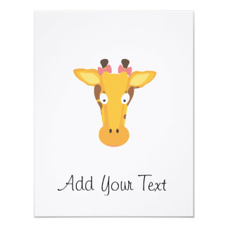 Female giraffe head card
