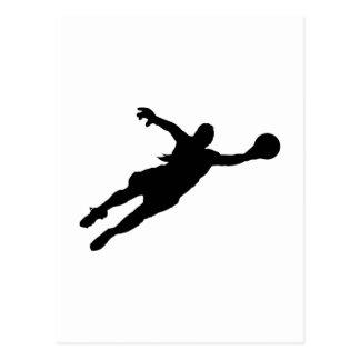 (Female) Goalie Save Postcard