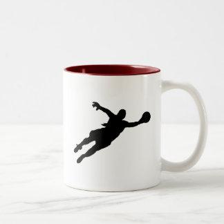 (Female) Goalie Save Two-Tone Coffee Mug