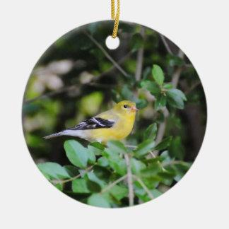 Female Goldfinch 2 Ceramic Ornament