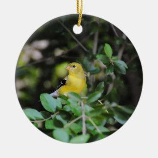 Female Goldfinch Ceramic Ornament