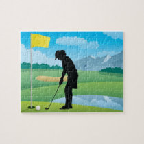 Female Golfer Design Jigsaw Puzzle