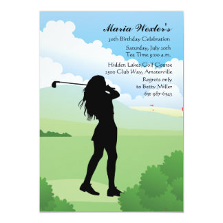 Female Golfer Invitation
