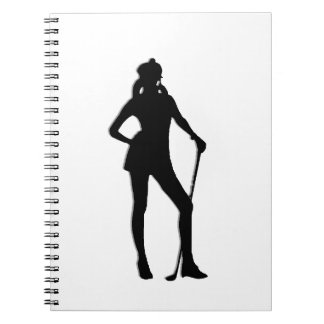 Female Golfer Sport Spiral Notebook