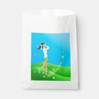 Female Golfer Spring Favor Bag