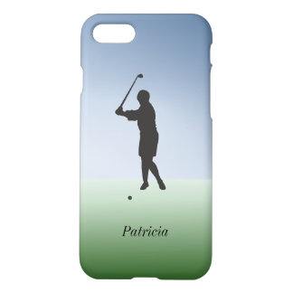 Female Golfer Swings the Club Custom Personalized iPhone 8/7 Case
