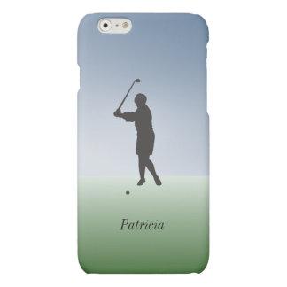 Female Golfer Swings the Club Custom Personalized Matte iPhone 6 Case