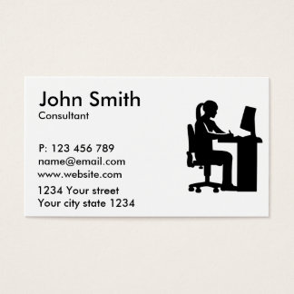 Female graphic artist business card