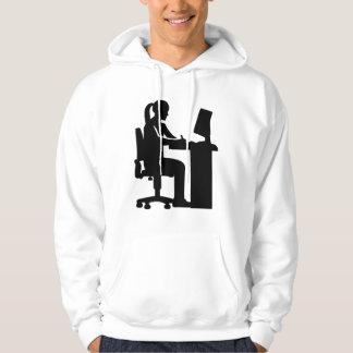 Female graphic artist hoodie