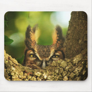 Female Great Horned Owl Mouse Pad