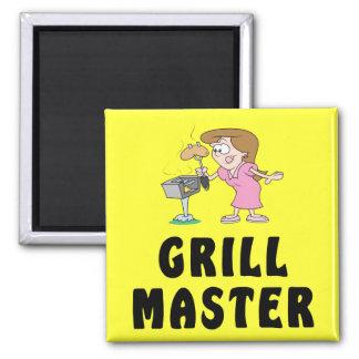 Female Grill Master Magnet Magnet