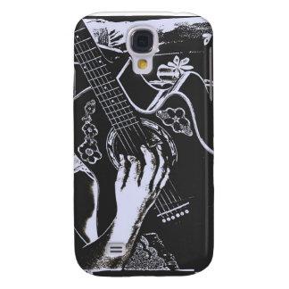 Female Guitar hand blue grey girtty.jpg Samsung Galaxy S4 Cover