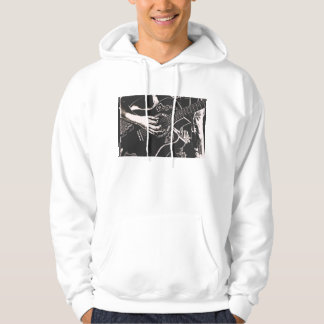 Female Guitar hand pnk grey gritty Hoodie