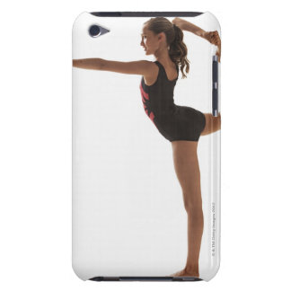 Female gymnast (12-13) balancing on one leg barely there iPod cover