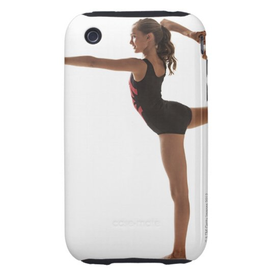 Female gymnast (12-13) balancing on one leg iPhone 3 tough cover