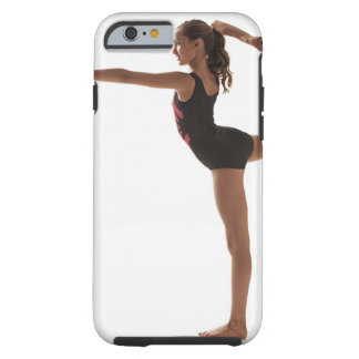 Female gymnast (12-13) balancing on one leg tough iPhone 6 case