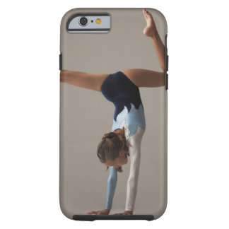 Female gymnast (12-13) performing handstand tough iPhone 6 case