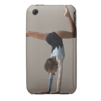 Female gymnast (12-13) performing handstand iPhone 3 Case-Mate cases