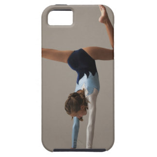 Female gymnast (12-13) performing handstand iPhone 5 covers