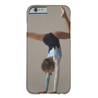 Female gymnast (12-13) performing handstand iPhone 6 case