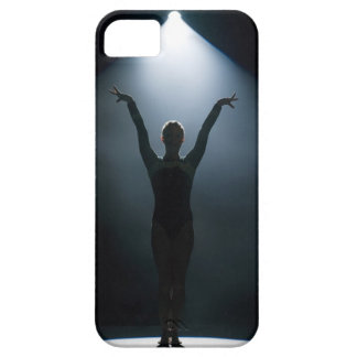 Female gymnast performing in spotlight, studio iPhone SE/5/5s case