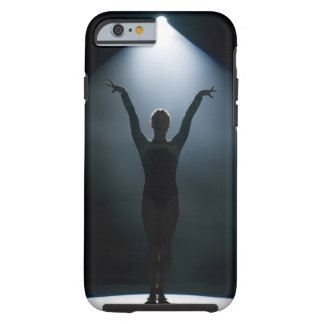 Female gymnast performing in spotlight, studio tough iPhone 6 case