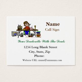 Female Hamfest Radio Seller Business Cards